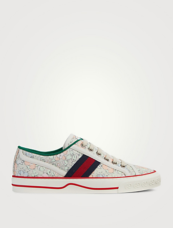 GUCCI Tennis 1977 Liberty London Canvas Sneakers Women's Blue