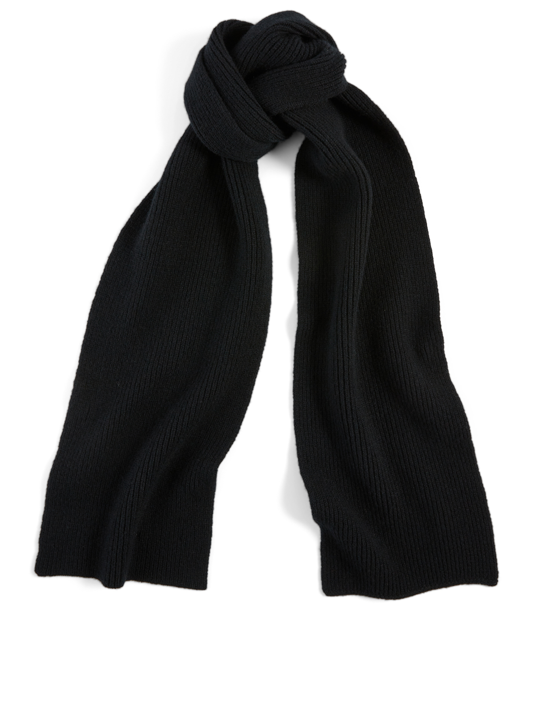 LE BONNET Ribbed Wool Scarf Women's Black