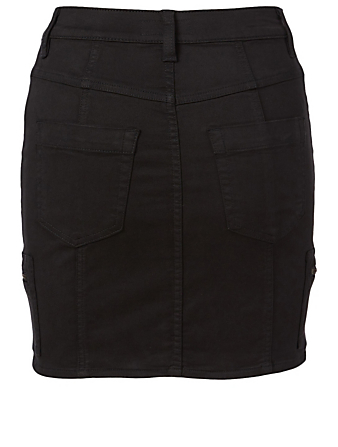 JOIE Park Cotton Stretch Mini Skirt Women's Black