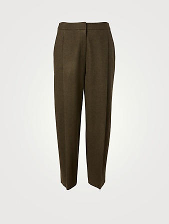 KUHO Wool And Cashmere High-Waisted Pants Women's Green