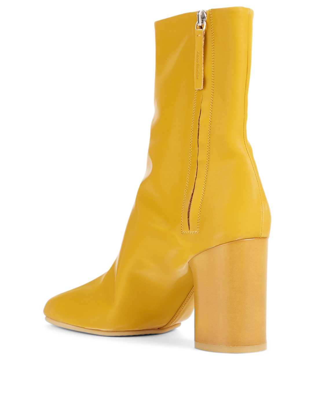 ACNE STUDIOS Vinyl Heeled Ankle Boots Women's Yellow