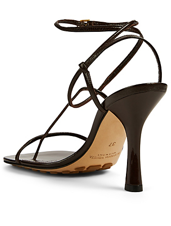 BOTTEGA VENETA Sandales à talon The Line en cuir Femmes Marron