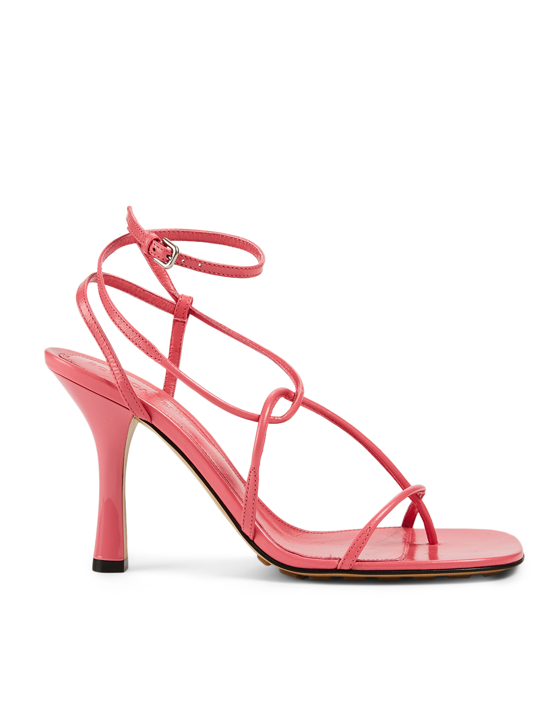 BOTTEGA VENETA The Line Leather Heeled Sandals Women's Pink