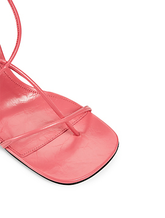 BOTTEGA VENETA Sandales à talon The Line en cuir Femmes Rose