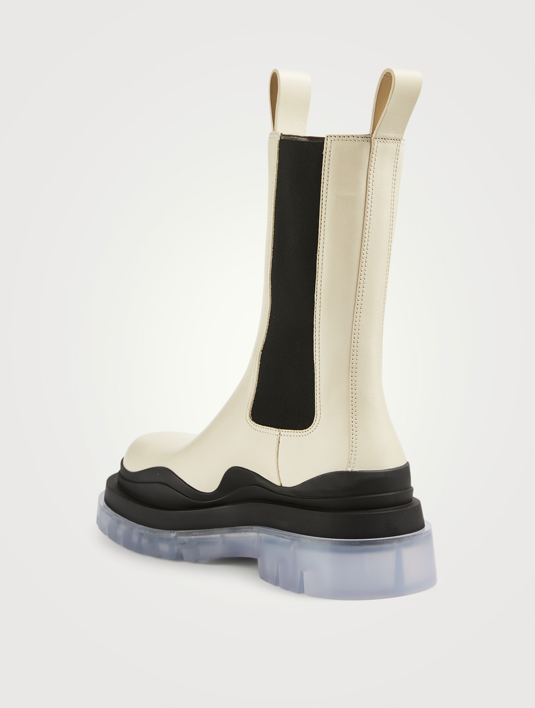 BOTTEGA VENETA Bottines cambrées The Tire en cuir Femmes Blanc