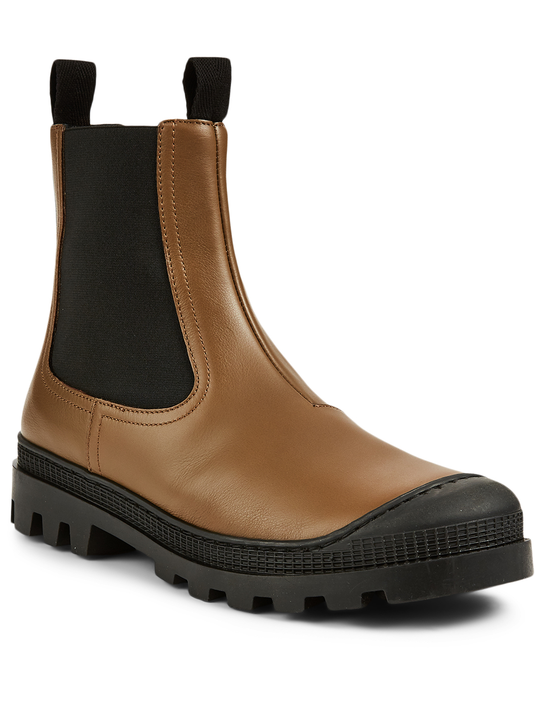 LOEWE Leather Chelsea Boots Women's Green