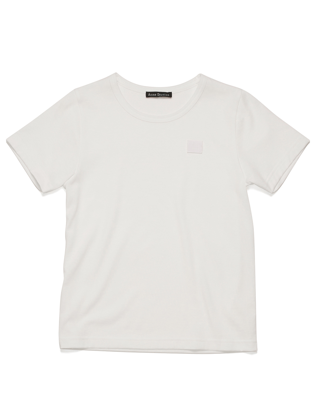 ACNE STUDIOS Kids' Mini Nash Face Cotton T-Shirt Kids White