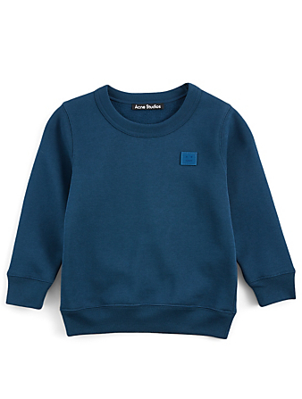 ACNE STUDIOS Pull molletonné Kids' Mini Fairview en coton Enfants Bleu