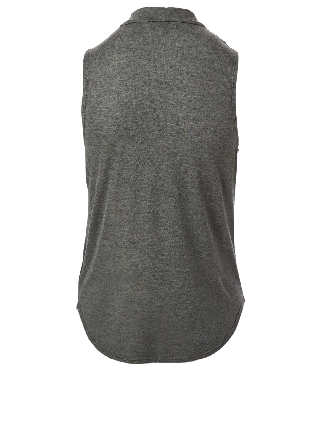 THEORY Cowlneck Sleeveless Top Women's Grey