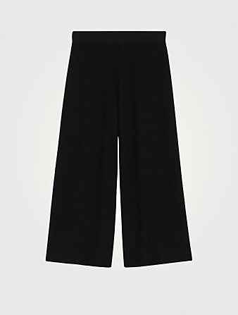 THEORY Ribbed Flared Crop Pants Women's Black