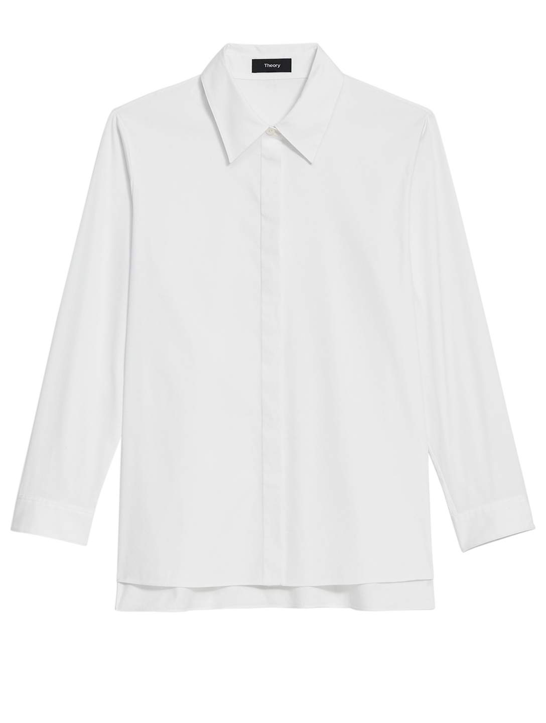 THEORY Cotton Trapeze Shirt Women's White