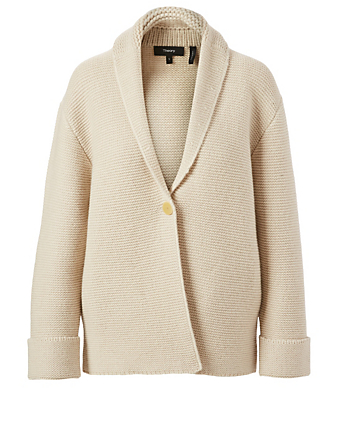 THEORY Wool And Cashmere Knit Coat Women's Grey