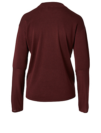 STUDIO NICHOLSON Daikoku Silk And Cotton Top Women's Red