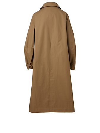 STUDIO NICHOLSON Tadao Convex-Sleeve Trench Coat Women's Beige