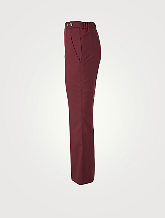 MARNI Wool Cropped Flare Pants Women's Red