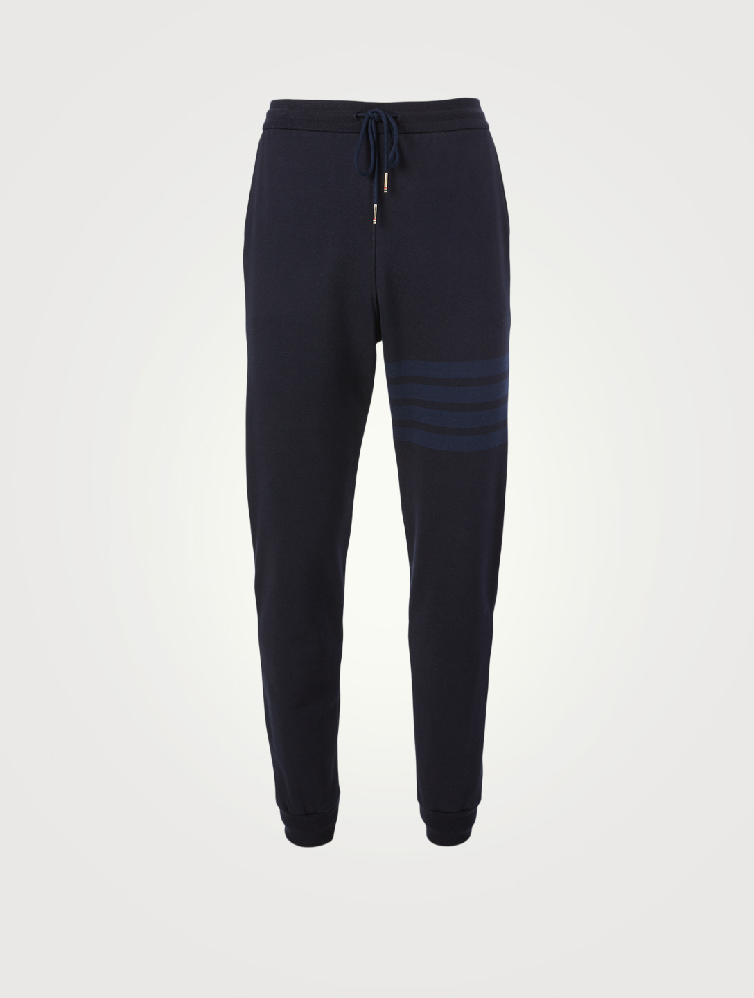 THOM BROWNE Cotton Loopback Sweatpants With Four-Bar Men's Blue