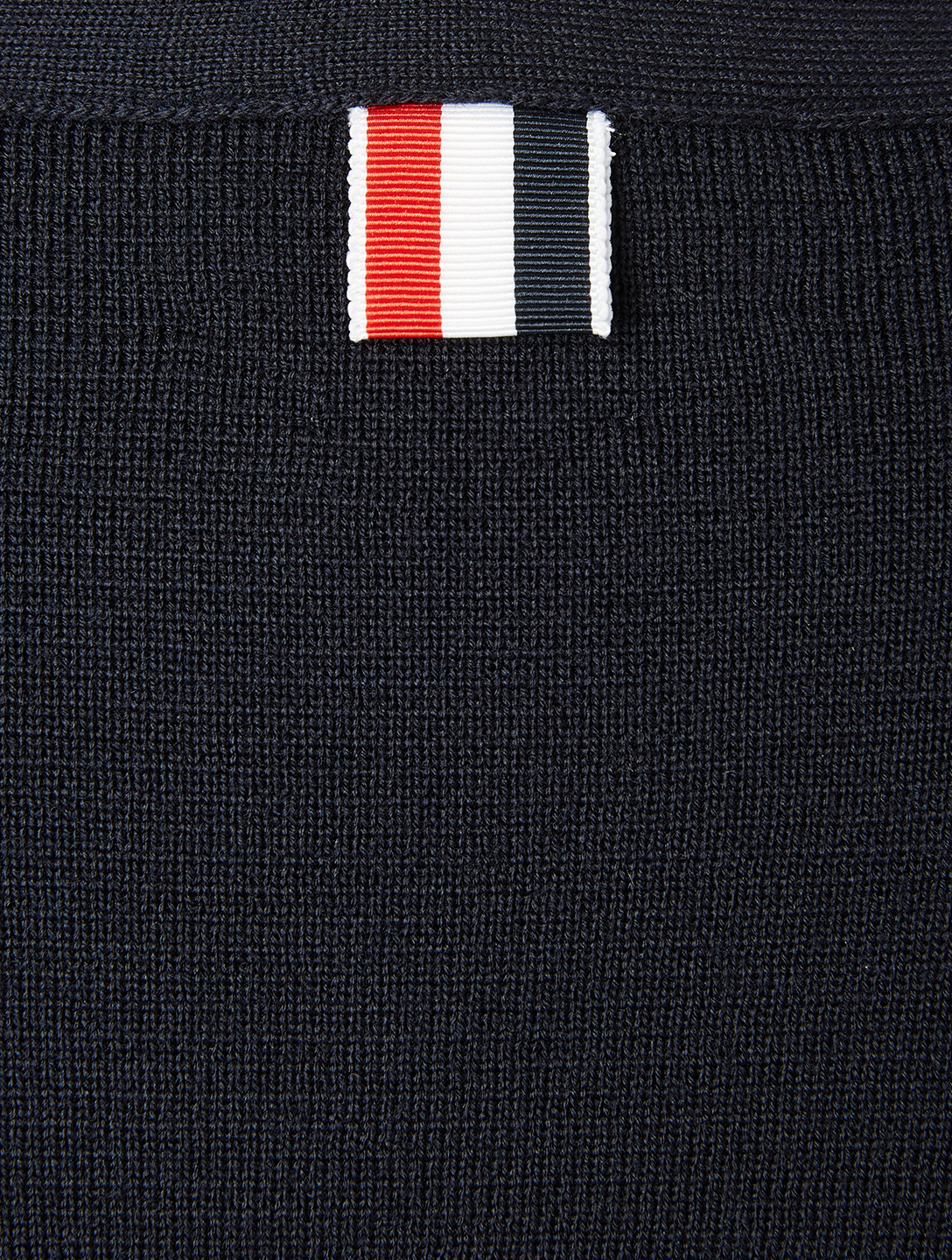 THOM BROWNE Wool Milano Stitch Cardigan With Four-Bar Stripe Men's Blue