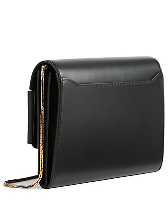 BOYY Buckle Leather Crossbody Travel Case Bag Women's Black