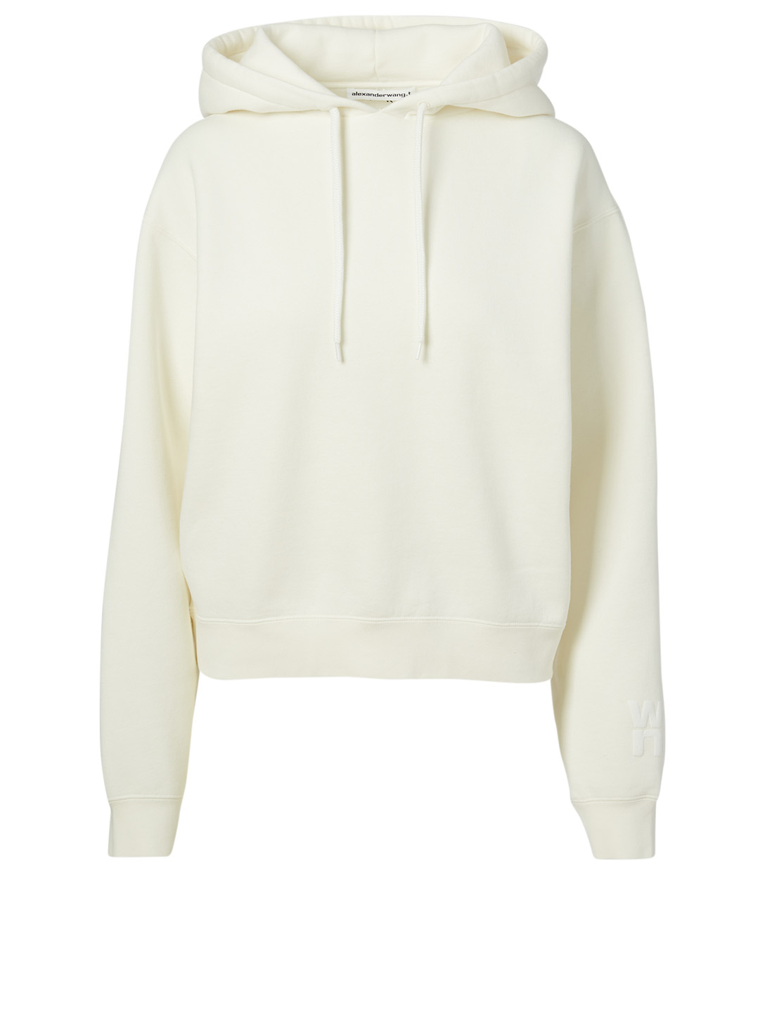 ALEXANDERWANG.T Foundation Terry Hoodie With Logo Women's White