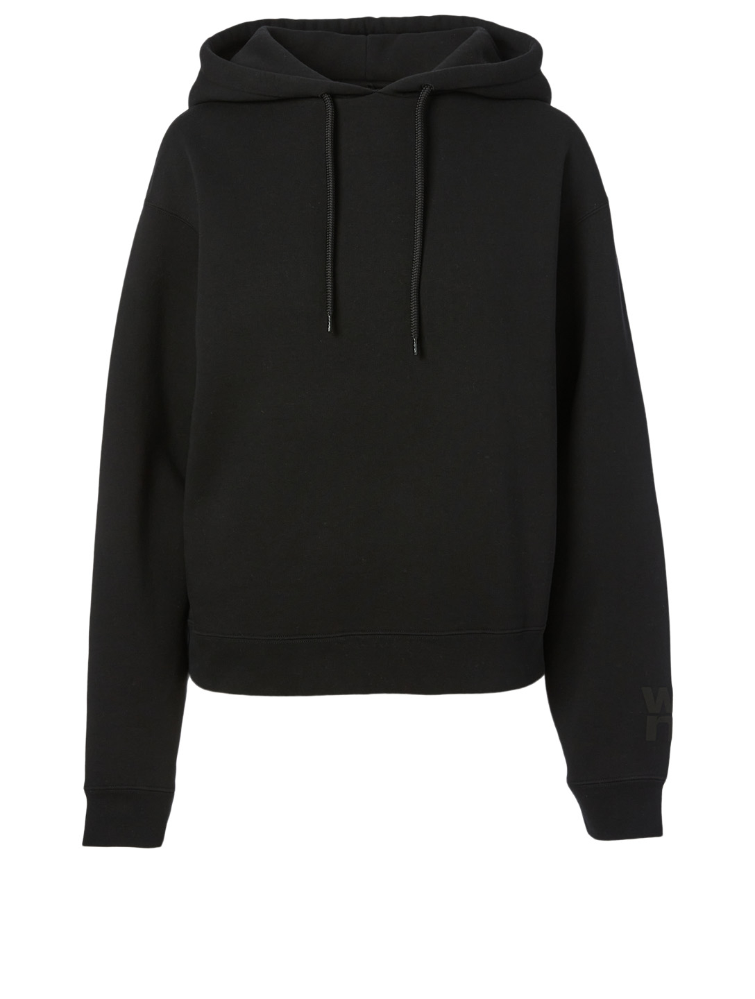ALEXANDERWANG.T Foundation Terry Hoodie With Logo Women's Black