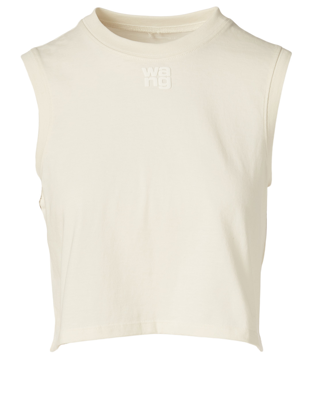 ALEXANDERWANG.T Foundation Jersey Sleeveless Top With Paint Logo Women's White