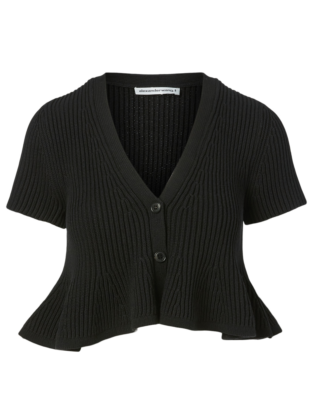 ALEXANDERWANG.T Cropped V-Neck Cardigan Women's Black
