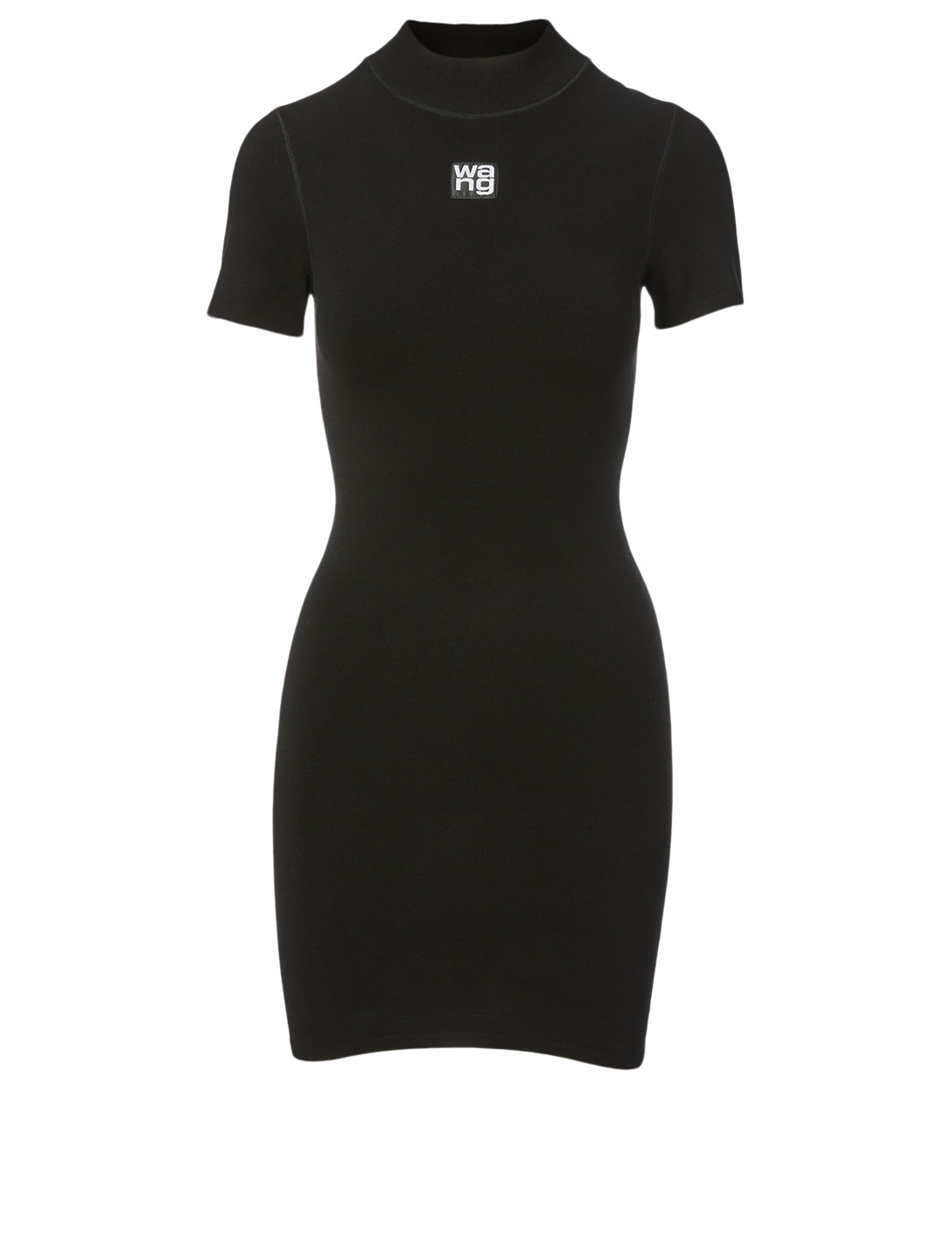 ALEXANDERWANG.T Bodycon T-Shirt Dress With Logo Women's Black