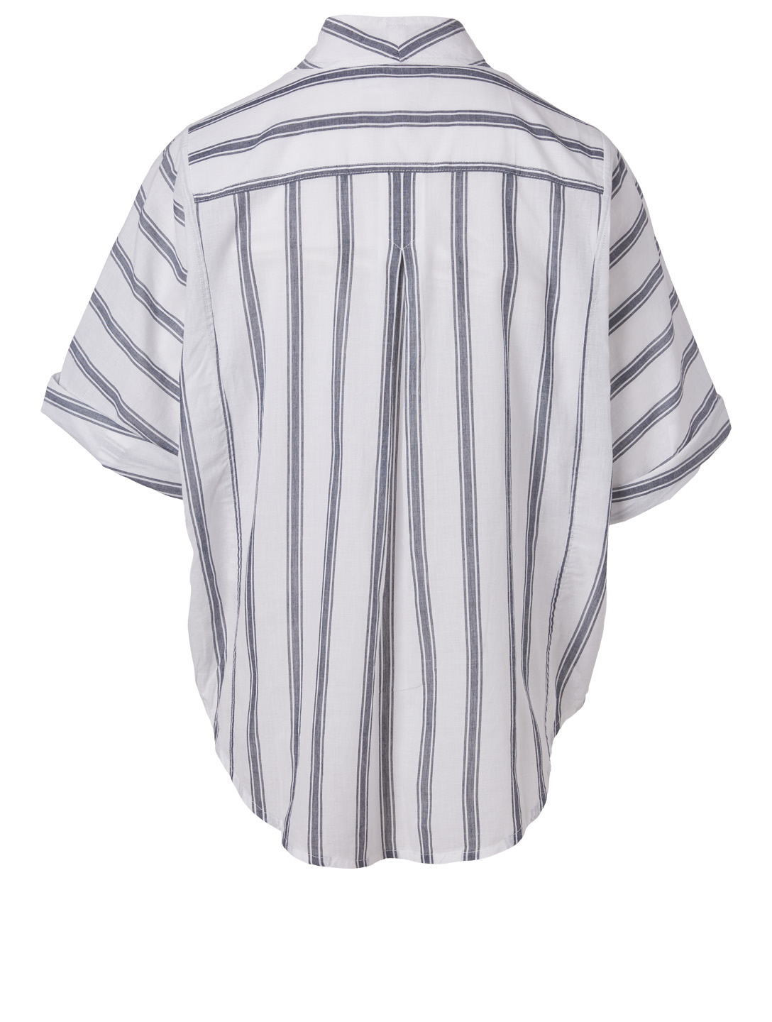 FRAME Short-Sleeve Safari Shirt In Striped Print Women's White