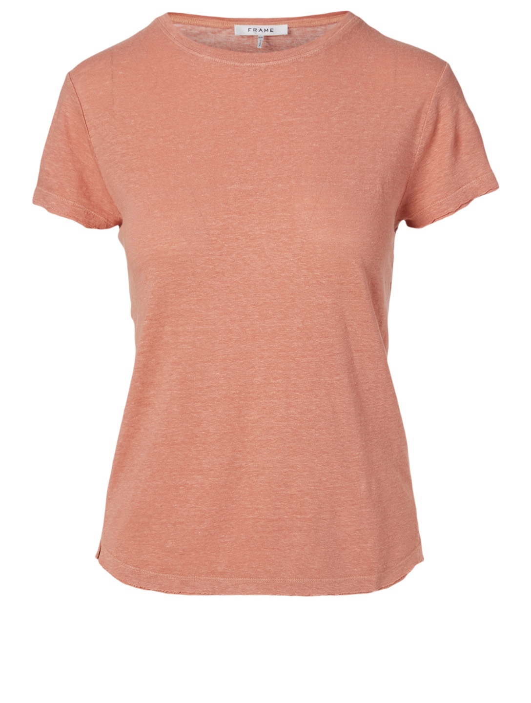 FRAME Easy True Linen T-Shirt Women's Brown
