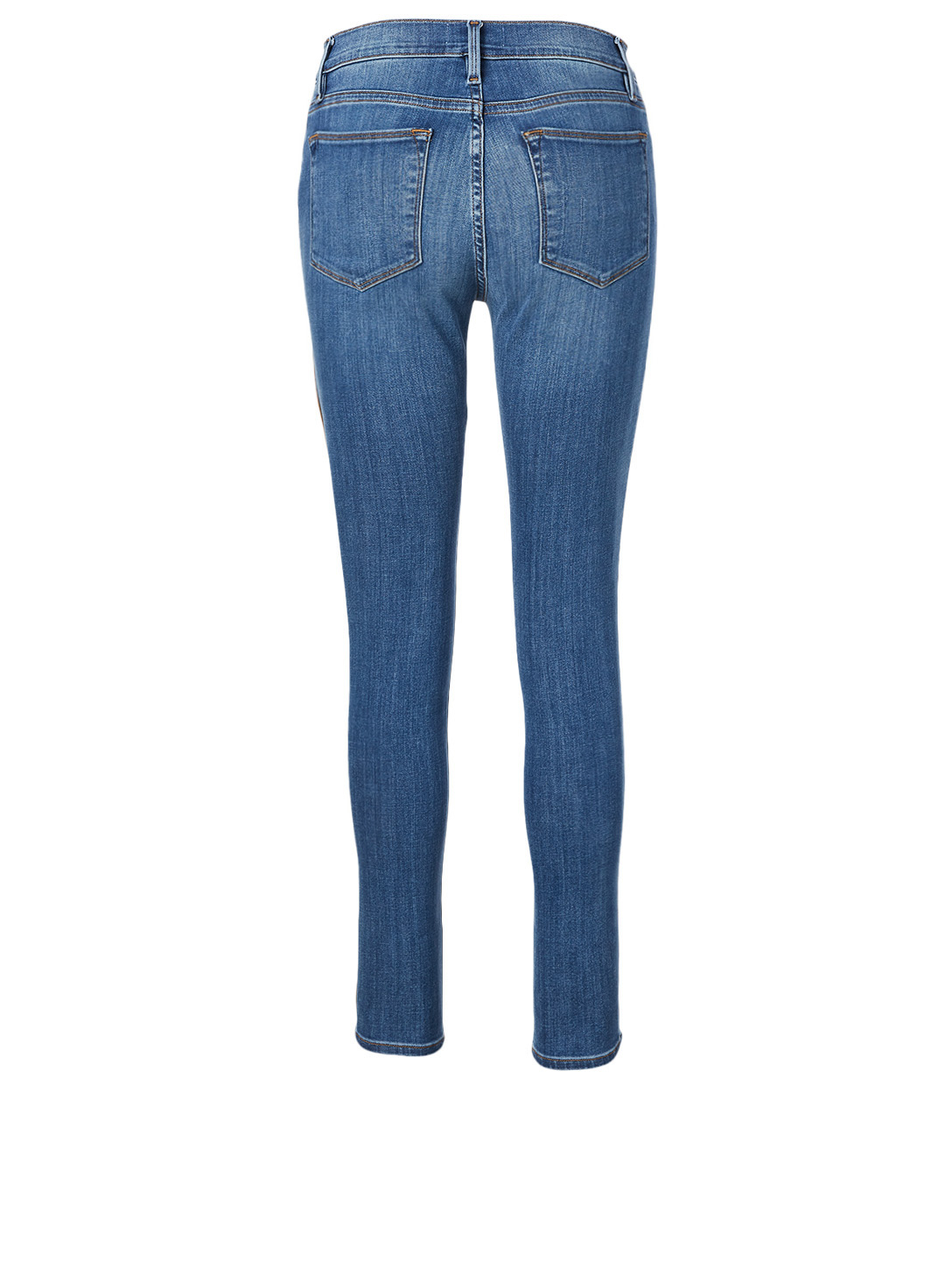 FRAME Le High Skinny Jeans With Piping Women's Blue