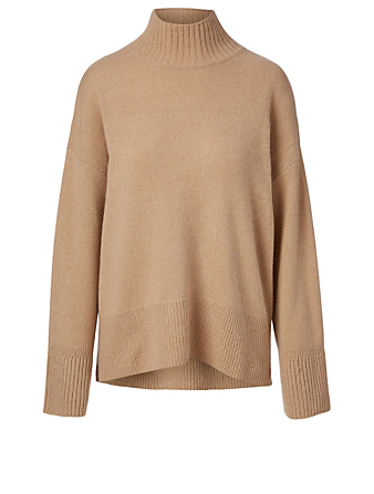 FRAME Cashmere And Wool Turtleneck Sweater Women's Brown