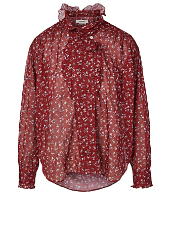 ISABEL MARANT ÉTOILE Pamias Cotton Blouse In Floral Print Women's Multi