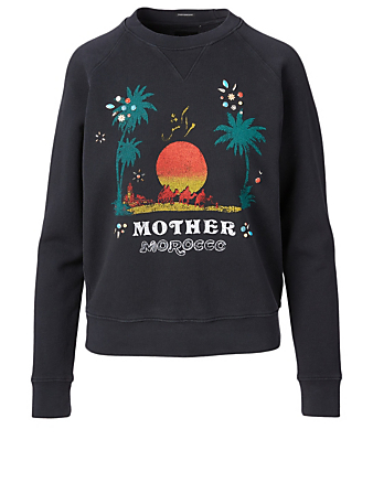 MOTHER The Square Graphic Sweatshirt Women's Black