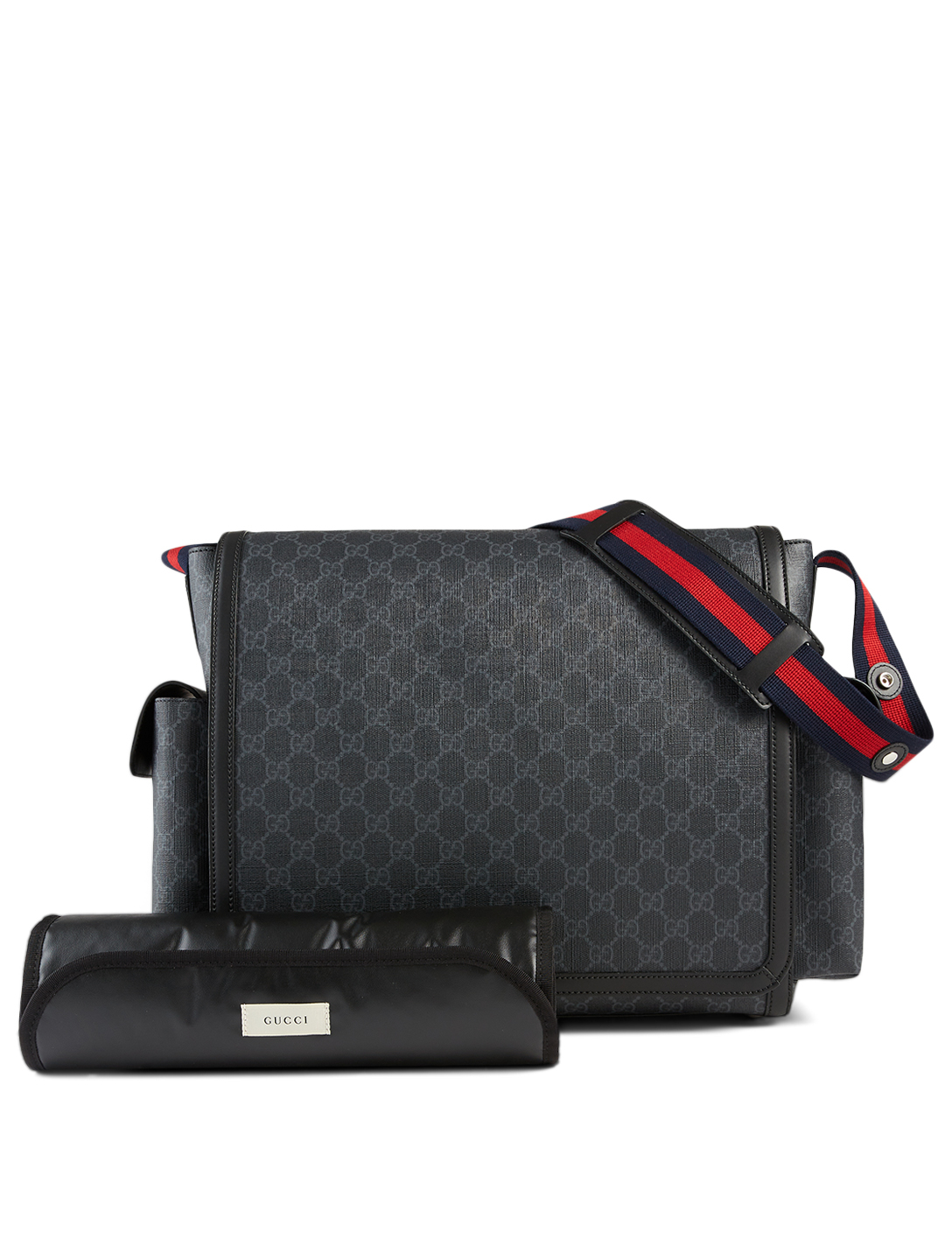 GUCCI GG Supreme Baby Diaper Bag Women's Black