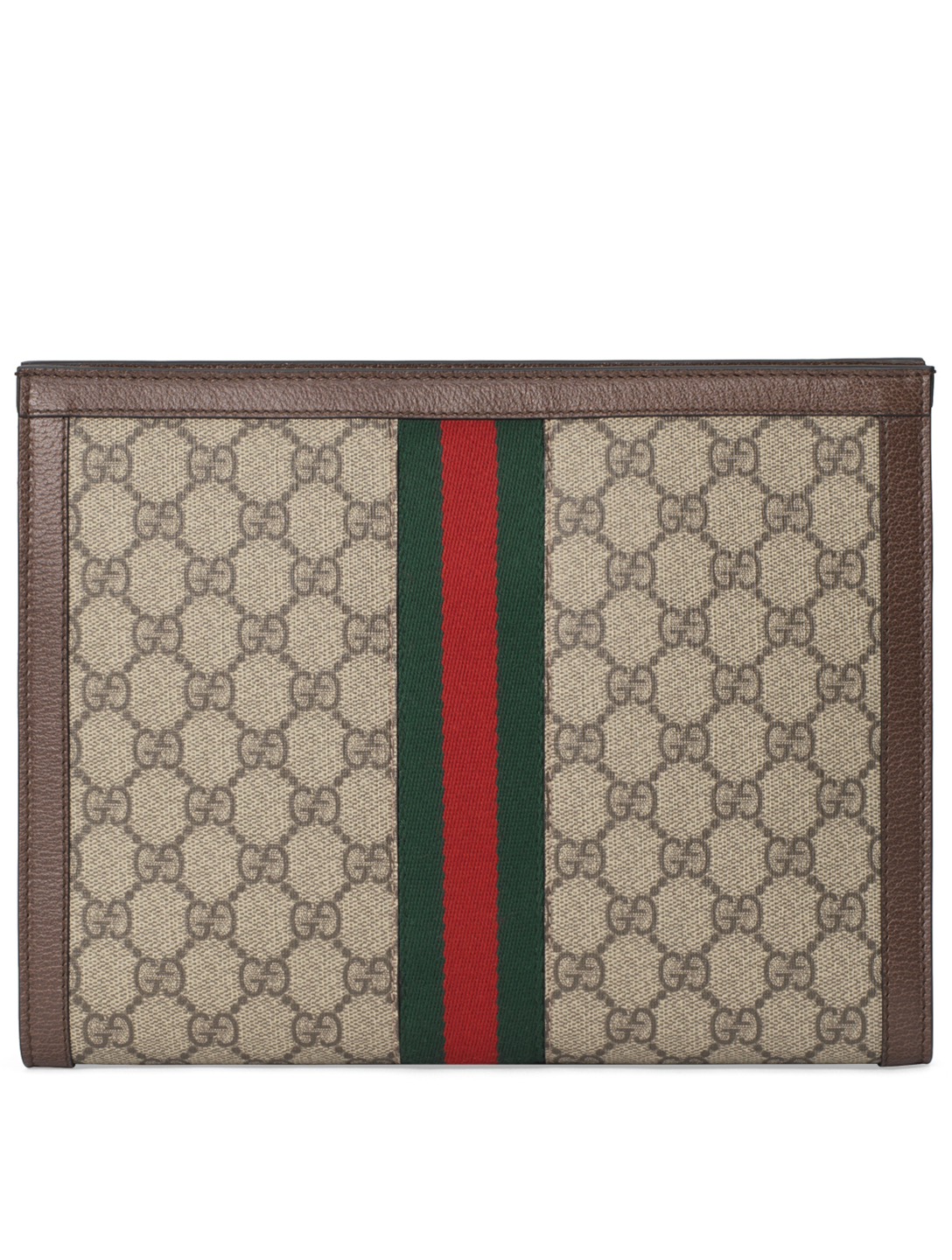 GUCCI Ophidia GG Supreme Canvas Pouch Women's Beige
