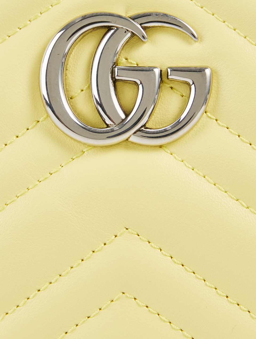 GUCCI Mini GG Marmont Leather Camera Bag Women's Yellow