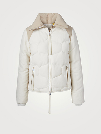 MONCLER GENIUS Margaret Cotton And Linen Down Jacket Women's White