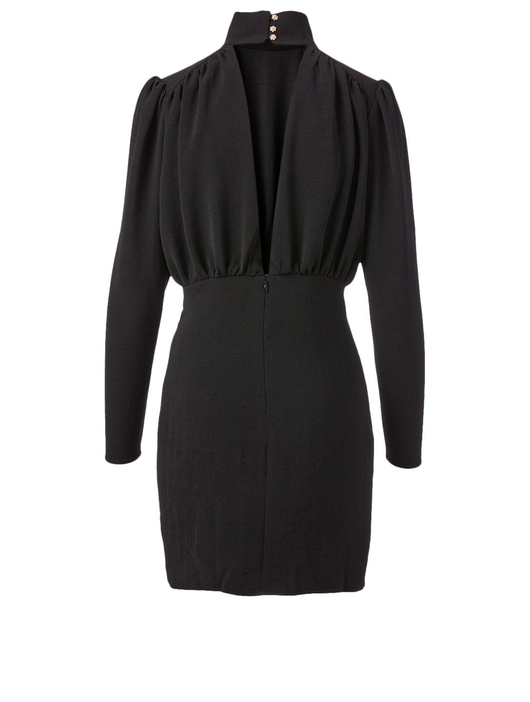 BA&SH Kina Long-Sleeve Mini Dress Women's Black