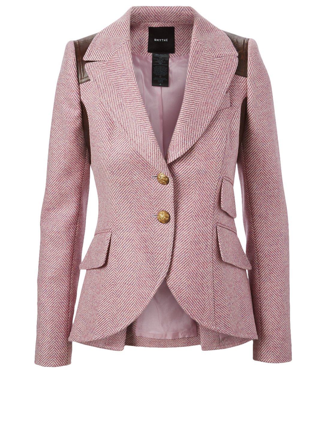 SMYTHE Rifle-Patch Equestrian Blazer Women's Purple