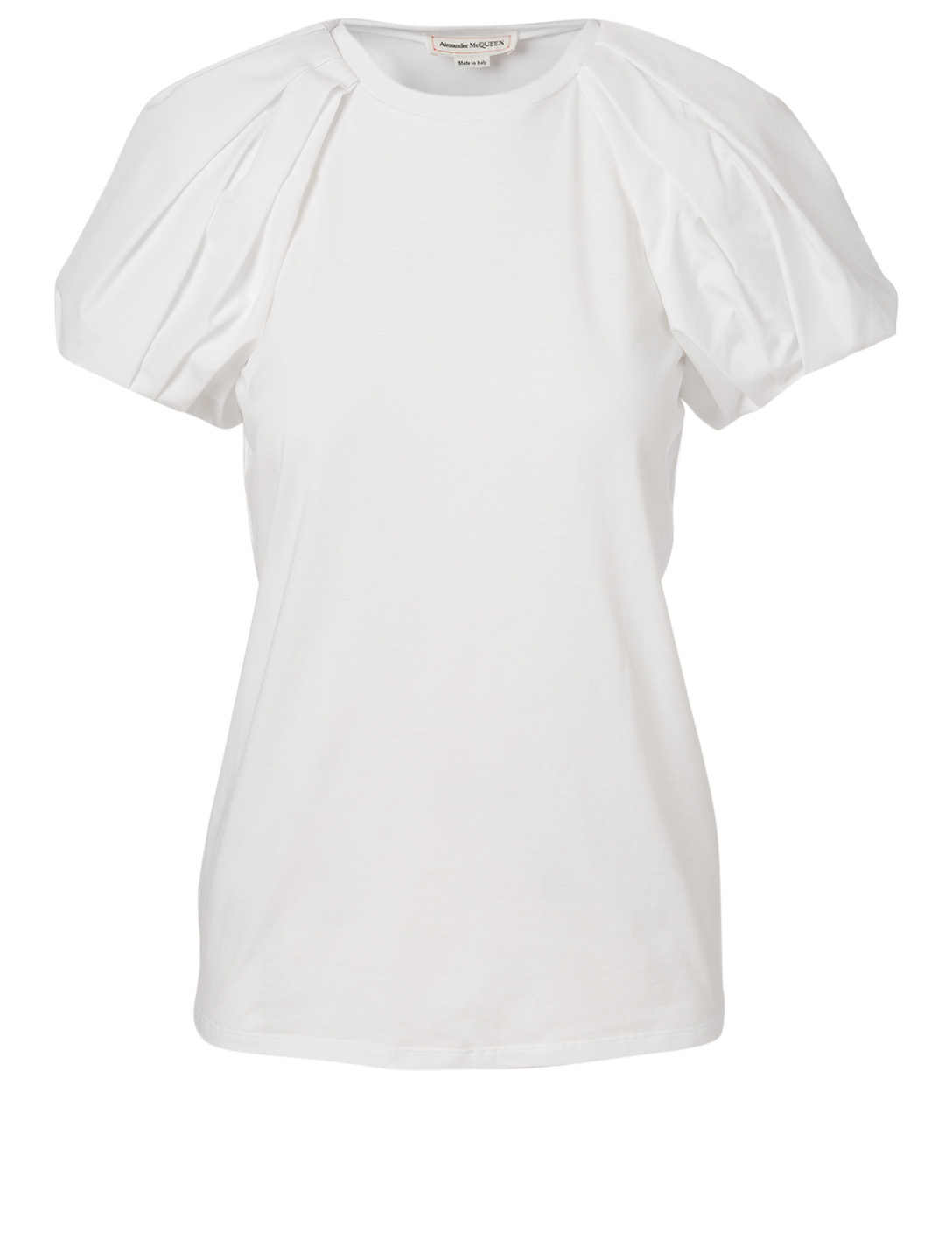 ALEXANDER MCQUEEN Cotton Puff-Sleeve T-Shirt Women's White