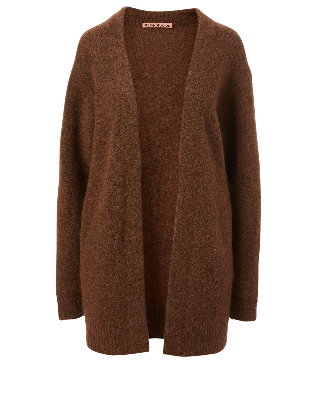 ACNE STUDIOS Wool And Mohair Cardigan Women's Brown