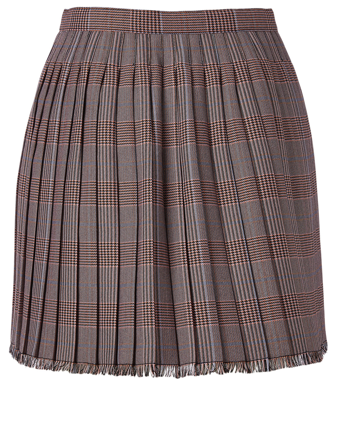 ACNE STUDIOS Wool-Blend Mini Skirt In Check Print Women's Pink