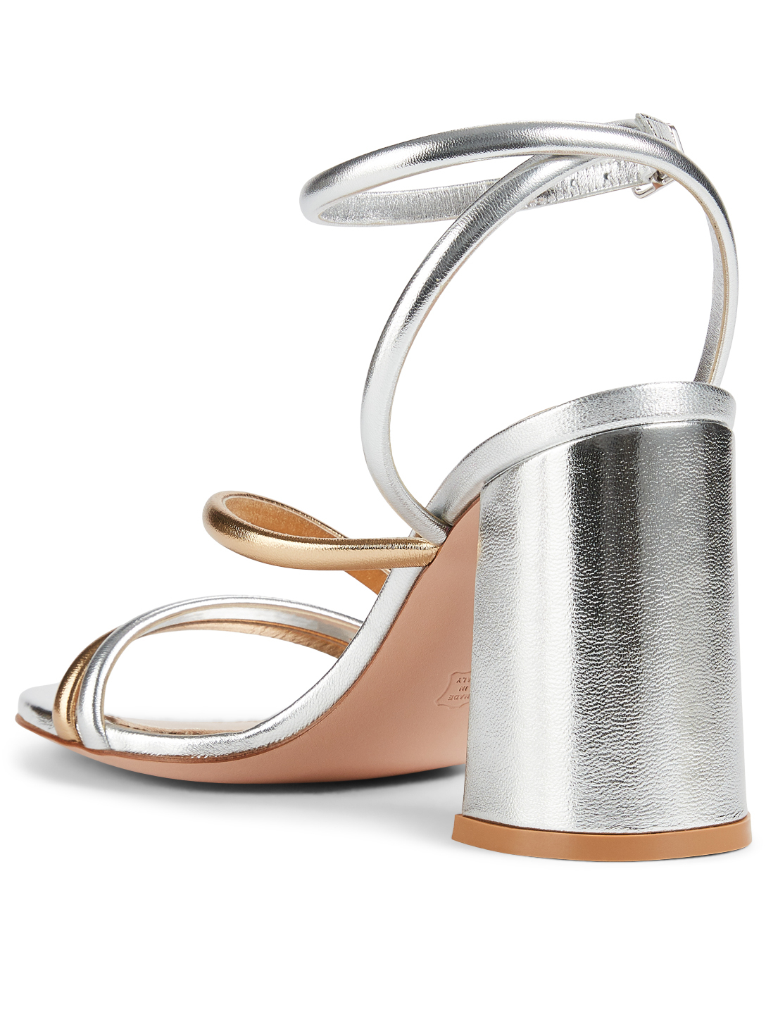 GIANVITO ROSSI Bekah 85 Metallic Leather Heeled Sandals Women's Metallic