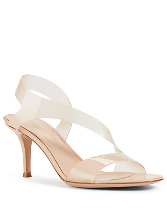 GIANVITO ROSSI Metropolis 70 Clear And Patent Leather Heeled Sandals Women's Neutral