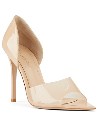GIANVITO ROSSI Bree Patent Leather Heeled Sandals Women's Neutral