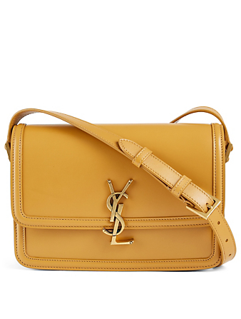 SAINT LAURENT Medium Solferino YSL Monogram Leather Bag Women's Yellow
