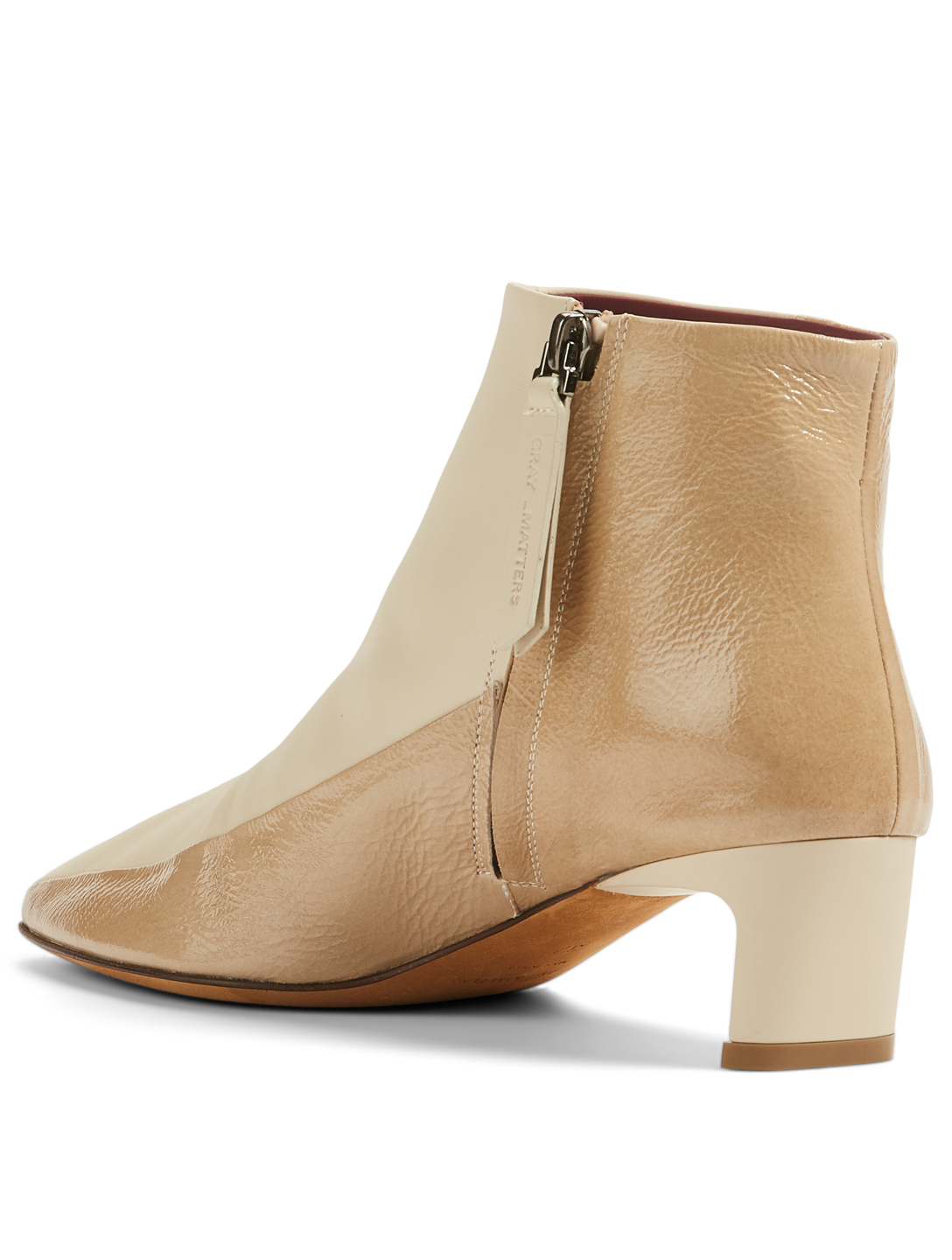 GRAY MATTERS Margherita Leather Heeled Ankle Boots Women's Pink