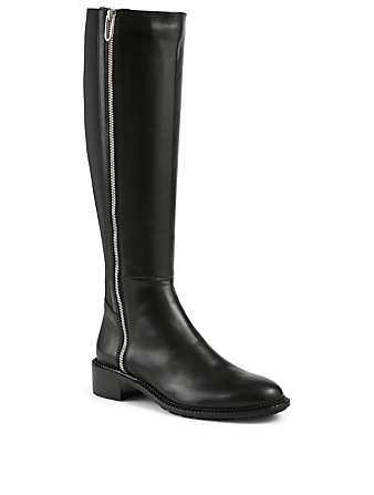 AQUATALIA Ocala Leather Knee-High Boots Women's Black