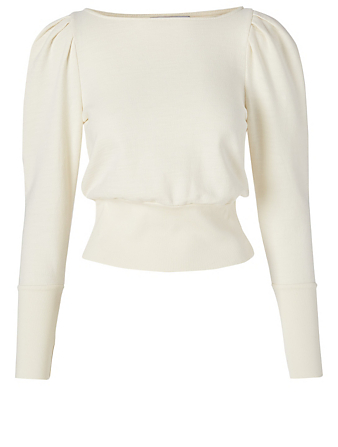 AG Walker Cotton Sweatshirt Women's White