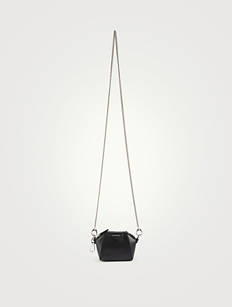 GIVENCHY Baby Antigona Leather Charm Bag Women's Black